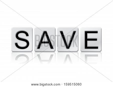 Save Isolated Tiled Letters Concept And Theme