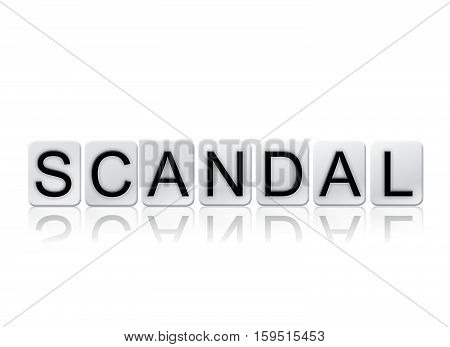 Scandal Isolated Tiled Letters Concept And Theme
