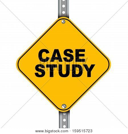 Yellow Road Sign Of Case Study