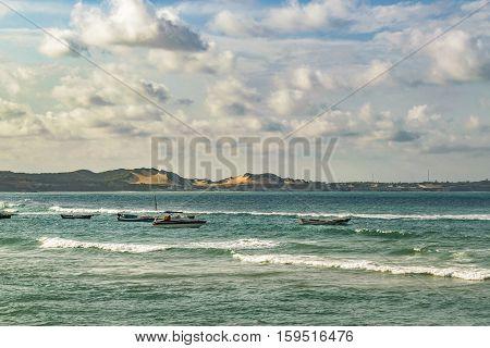 Seascape scene in Pipa a touristic watering place located in Brazil South America
