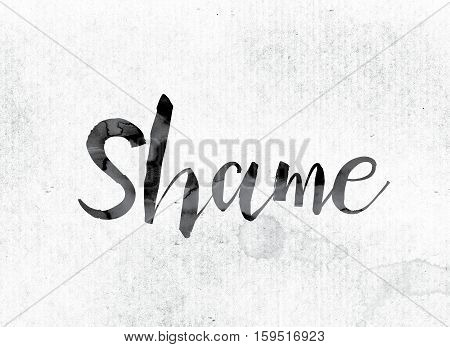 Shame Concept Painted In Ink