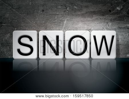 Snow Tiled Letters Concept And Theme