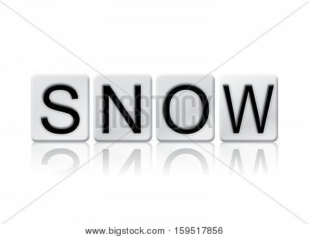 Snow Isolated Tiled Letters Concept And Theme