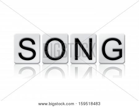 Song Isolated Tiled Letters Concept And Theme