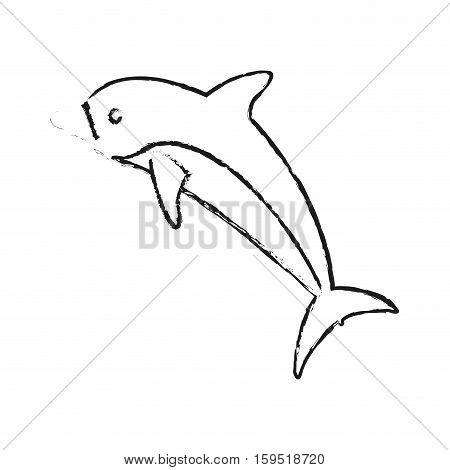 Dolphin icon. Sea life ecosystem fauna and ocean theme. Isolated design. Vector illustration