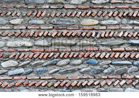 The Brick and stones grey stonework backr\ground
