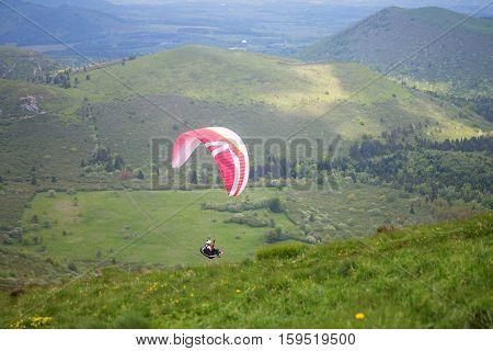 Paragliding In Volcano Natural Park, France