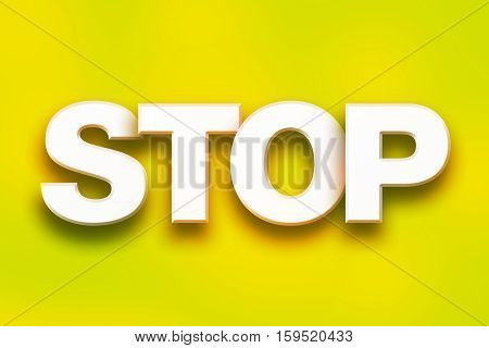Stop Concept Colorful Word Art