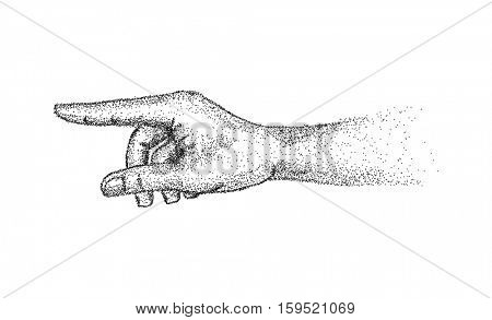 vector - hand gesture - isolated on background