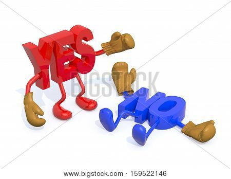 Yes And No Fightning, Decision Yes Winning