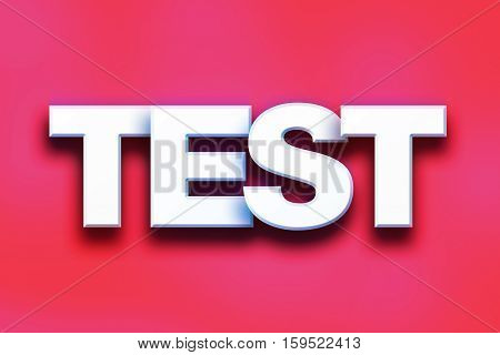 Test Concept Colorful Word Art