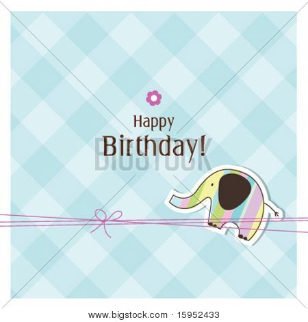 Baby arrival card with copy space