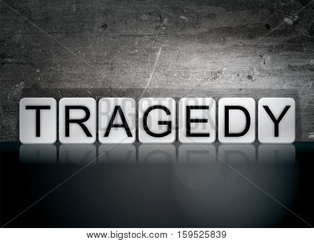 Tragedy Tiled Letters Concept And Theme