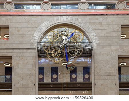 MOSCOW, RUSSIA - APRIL 28,2015: Interior Central children's store on Lubyanka (opened in April 2015 after extensive reconstruction), Moscow, Russia