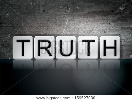 Truth Tiled Letters Concept And Theme