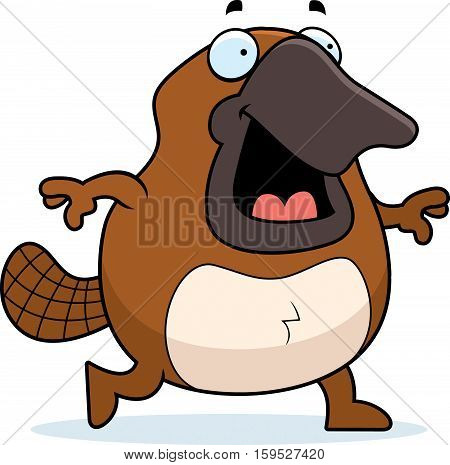 Cartoon Platypus Walking