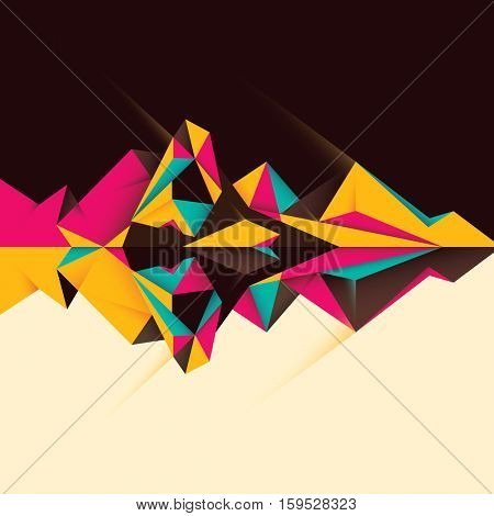 Modern geometric style abstraction in color. Vector illustration