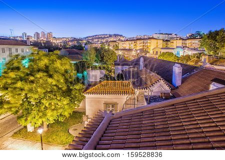 Odivelas Portugal. Beautiful evening view. District of Lisbon.