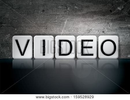 Video Tiled Letters Concept And Theme