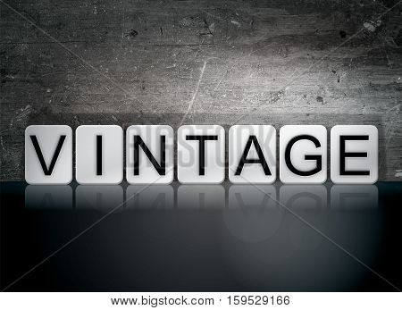 Vintage Tiled Letters Concept And Theme