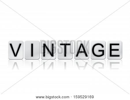 Vintage Isolated Tiled Letters Concept And Theme
