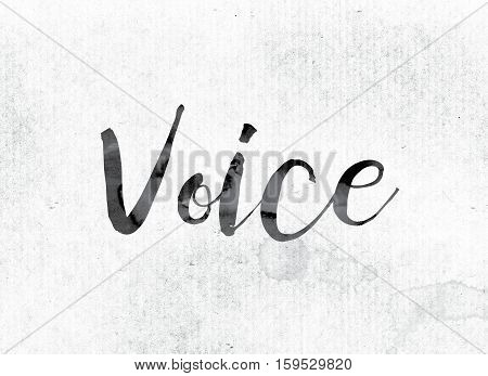 Voice Concept Painted In Ink