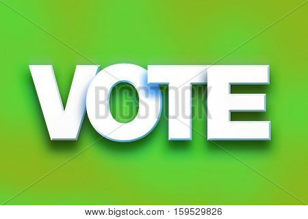 Vote Concept Colorful Word Art