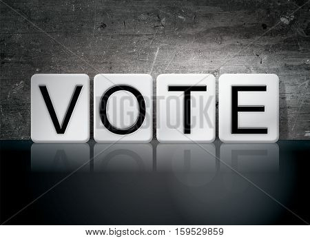 Vote Tiled Letters Concept And Theme