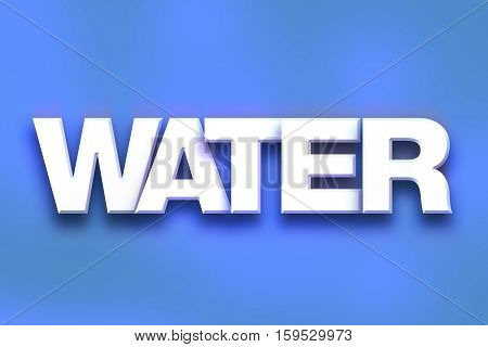 Water Concept Colorful Word Art