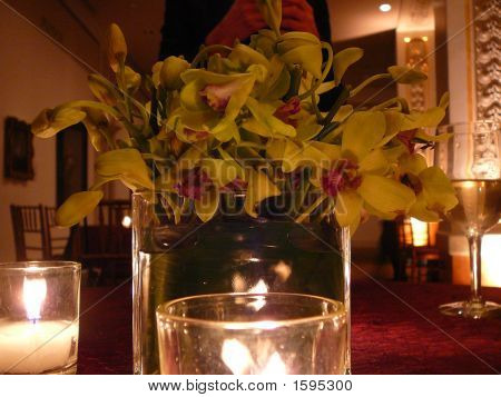 Romantic Candlelit Restaurant