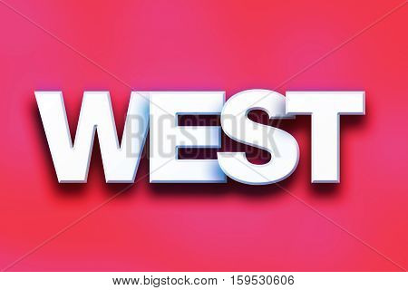 West Concept Colorful Word Art