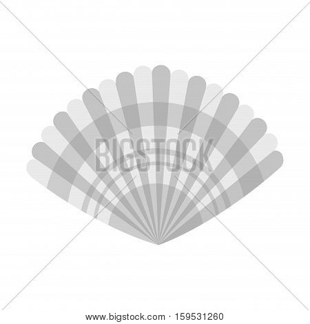 Shell icon. Sea life ecosystem fauna and ocean theme. Isolated design. Vector illustration