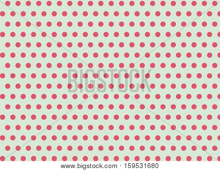Pink dots on a green background abstract pattern Pop art style Dots background Symmetrical dots background