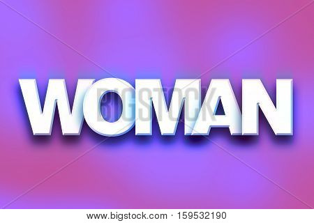Woman Concept Colorful Word Art