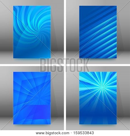 Design elements presentation template. Set vertical banners background backdrop glow light effect. Vector illustration EPS 10 for web buttons template business card layout web site element
