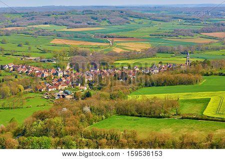 Flavigny-sur-ozerain In Burgundy, France