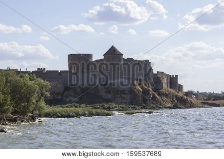 old, abandoned castle on the sea shore
