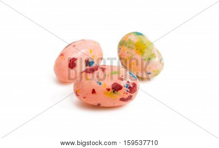 jelly beans  dessert on a white background