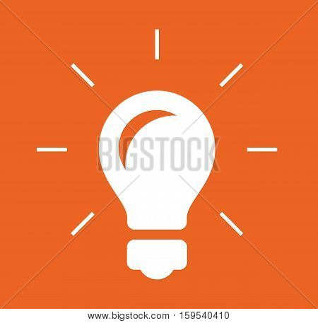 Bulb logo icon design orange background vector stock