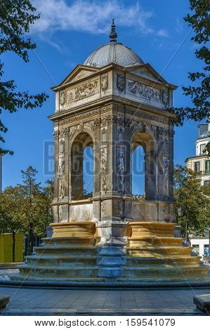 The Fontaine des Innocents is a monumental public fountain located on the place Joachim-du-Bellay in Paris France. It is the oldest monumental fountain in Paris