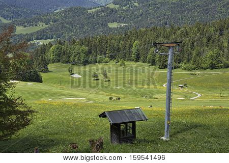 Multi-use mountain retreat with seasonal sports (golf, skiing). Near Berchtesgaden, Germany.