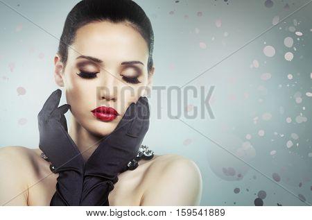 Beautiful Dramatic Glamour Woman