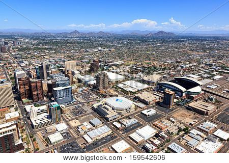 Phoenix Arizona-November 2016-The NCAA Final Four is coming to the valley of the sun. Four events will be held in downtown Phoenix and Glendale leading up to the Final Four in Glendale this Spring.