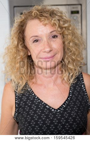 Pretty Fifties Year Old Woman In Portrait
