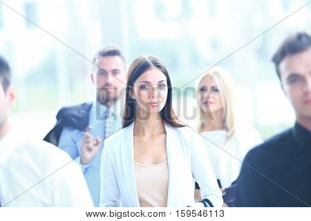 Portrait of yung handsome businesswoman
