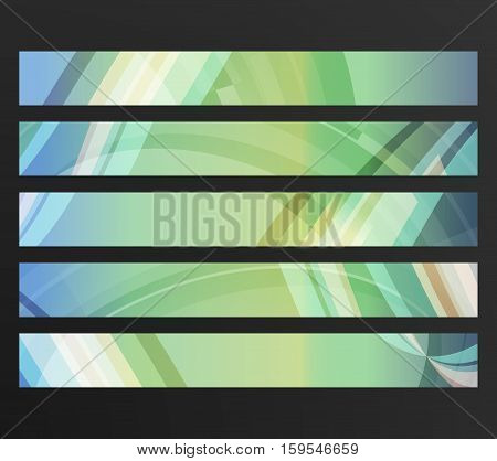 Design elements business presentation template. Vector illustration horizontal web banners background backdrop abstract blurry lines. EPS 10 for web buttons template web site page presentation