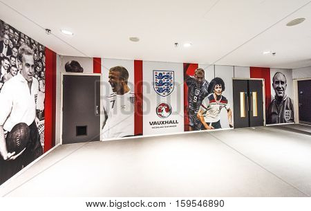 London, The Uk - May 2016: Tunnel Area At Wembley Arena