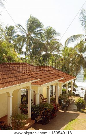 luxury cabanas at waterfront hotel resort Big Corn Island Nicaragua Central America