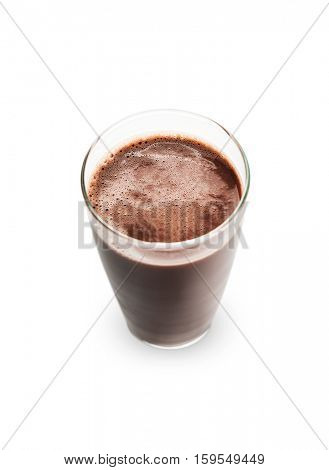 Chocolate milk on white -Clipping Path