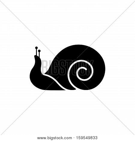 Snail Icon. Flat illustration isolated vector sign symbol